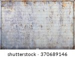 the old roller shutter garage... | Shutterstock . vector #370689146