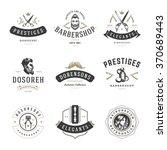 barber shop logos vector...   Shutterstock .eps vector #370689443
