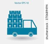flat truck icon. vector | Shutterstock .eps vector #370689494