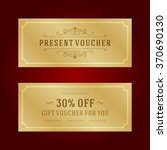 gift voucher template design... | Shutterstock .eps vector #370690130