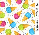 pattern ice cream | Shutterstock .eps vector #370691924
