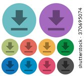 color download flat icon set on ...