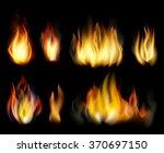 fire. vector realistic elements ...   Shutterstock .eps vector #370697150