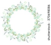 round frame with contour... | Shutterstock .eps vector #370698086