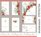 floral templates with red... | Shutterstock .eps vector #370701764