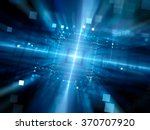 blue glowing hardware with... | Shutterstock . vector #370707920