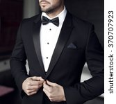 Sexy Man In Tuxedo And Bow Tie...