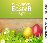 Happy Easter Card With Eggs ...