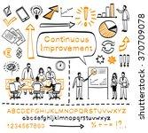 business doodle set. vector... | Shutterstock .eps vector #370709078
