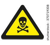 vector skull danger sign | Shutterstock .eps vector #370719308