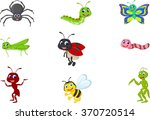 collection of insects cartoon | Shutterstock .eps vector #370720514