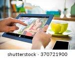 online dating app against... | Shutterstock . vector #370721900