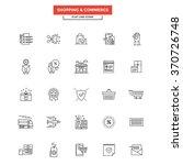 set of modern flat line icon... | Shutterstock .eps vector #370726748