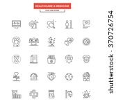 set of modern flat line icon... | Shutterstock .eps vector #370726754