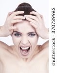 screaming woman | Shutterstock . vector #370739963