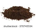 soil heap on white background | Shutterstock . vector #370745534