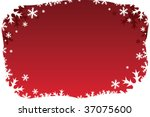 red holiday border background | Shutterstock .eps vector #37075600