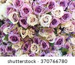 colorful of artificial flowers | Shutterstock . vector #370766780