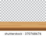 vector wood table top on... | Shutterstock .eps vector #370768676