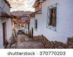 cuzco peru  view of san blas... | Shutterstock . vector #370770203