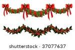 christmas garlands | Shutterstock .eps vector #37077637