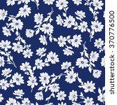 flower illustration pattern | Shutterstock .eps vector #370776500