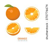 vector oranges set | Shutterstock .eps vector #370776674