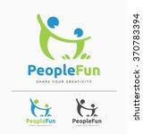 abstract couple having fun sign ... | Shutterstock .eps vector #370783394