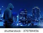 computer hacker silhouette of... | Shutterstock . vector #370784456