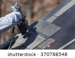 the nail gun is used to attach... | Shutterstock . vector #370788548