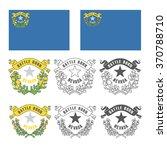 stylized flag of nevada   Shutterstock .eps vector #370788710