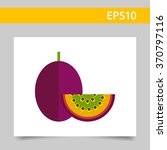 whole passion fruit and cut... | Shutterstock .eps vector #370797116