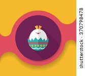 easter egg flat icon with long... | Shutterstock .eps vector #370798478