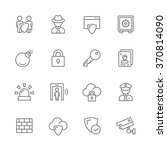 security icons.   Shutterstock .eps vector #370814090