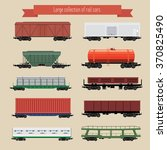 large collection of rail... | Shutterstock .eps vector #370825490
