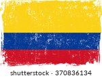 colombia vector grunge flag...   Shutterstock .eps vector #370836134