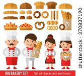 stylish set of characters and... | Shutterstock .eps vector #370837190