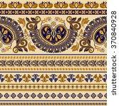 striped egyptian seamless... | Shutterstock .eps vector #370840928