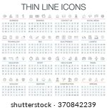 vector illustration of thin... | Shutterstock .eps vector #370842239