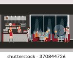 info graphic of coffee shop .... | Shutterstock .eps vector #370844726