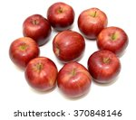 ripe red apple fruits isolated... | Shutterstock . vector #370848146