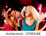 portrait of cheerful girl... | Shutterstock . vector #37085188