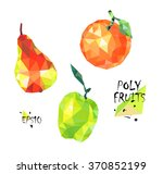 fruit low poly geometric... | Shutterstock .eps vector #370852199