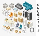 furniture isometric icons.... | Shutterstock .eps vector #370859990