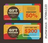 gift voucher template with... | Shutterstock .eps vector #370861220