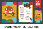cute colorful kids meal menu... | Shutterstock .eps vector #370861508