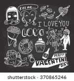 valentine doodle on chalkboard...
