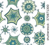 hand drawn colorful snowflakes...   Shutterstock .eps vector #370871300