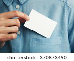 young man who takes out blank... | Shutterstock . vector #370873490
