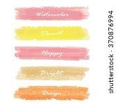 light pink yellow love pastel... | Shutterstock .eps vector #370876994